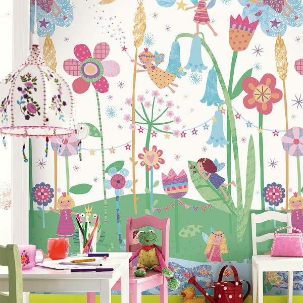 Murals Kids theme Fairy and Flowers-17770E