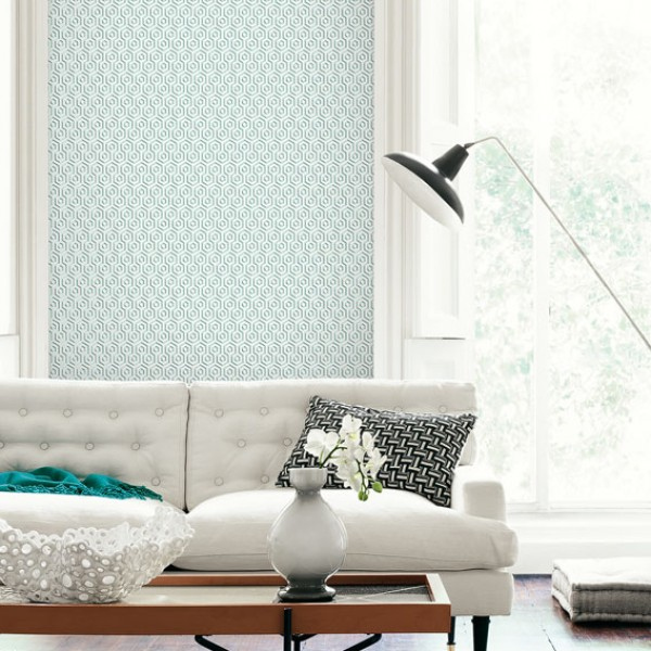 Geometric wallcoverings Hexagons-8B4D08