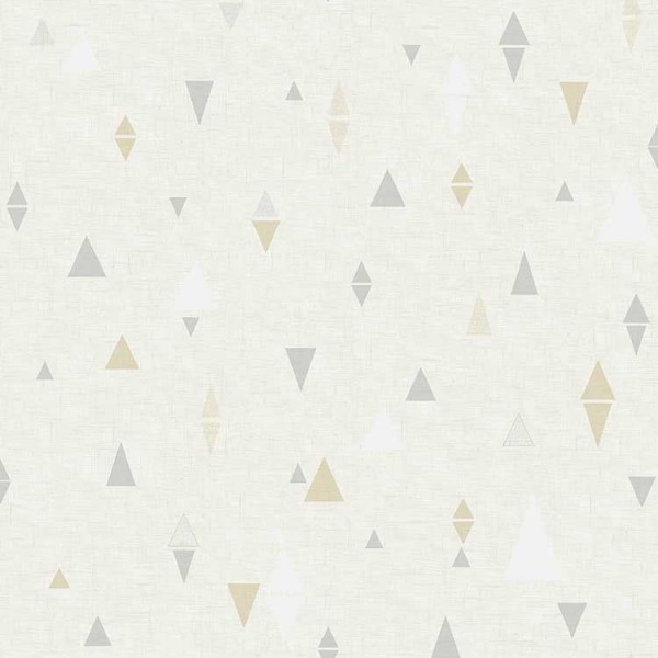 Geometric wallcoverings Triangles-9C9F9E