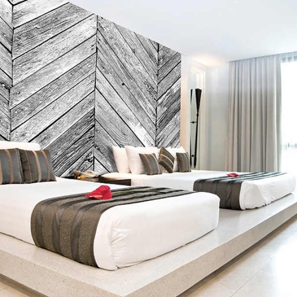 Murals Wood Imitation Zigzag-594998