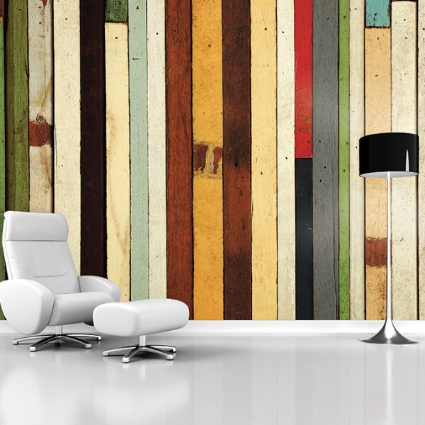 Murals Wood Imitation Colorful Wood-932994