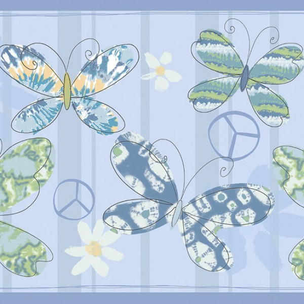 Borders Playful Butterflies-A28F79