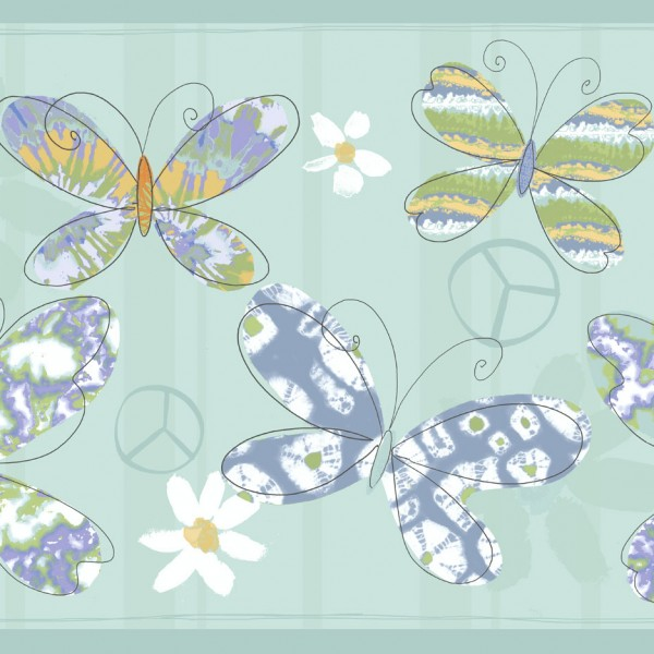 Borders Playful Butterflies-B12890