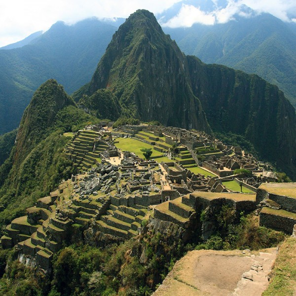 Murals Mountains and forests Machu P-574886