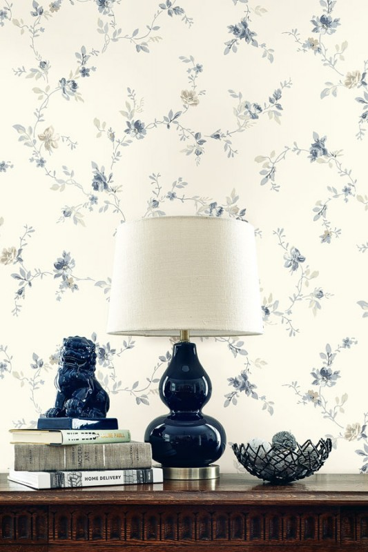 Floral wallpaper Pittsfield-239BC7