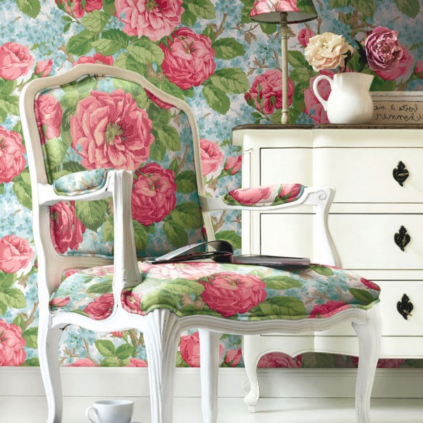 Floral wallpaper Laurence-482037