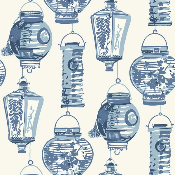 Oriental wallpaper China Lanterns-372DCB