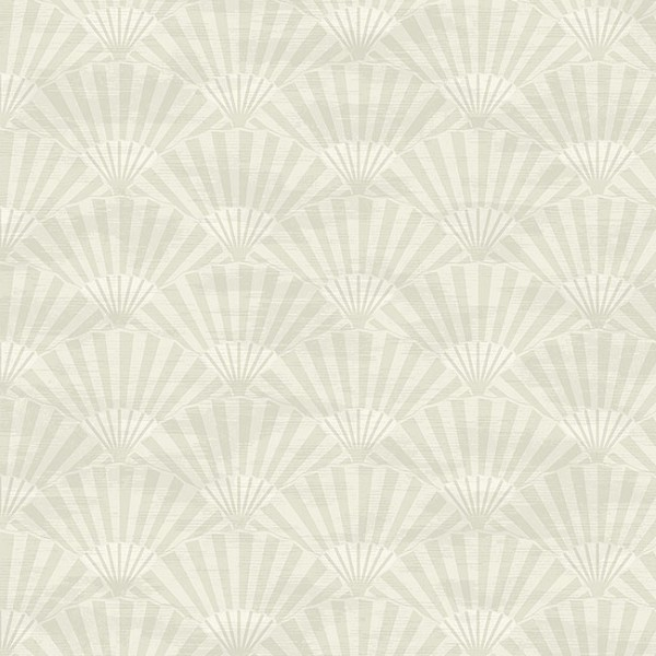 Oriental wallpaper Plain Fans-6CC2E9