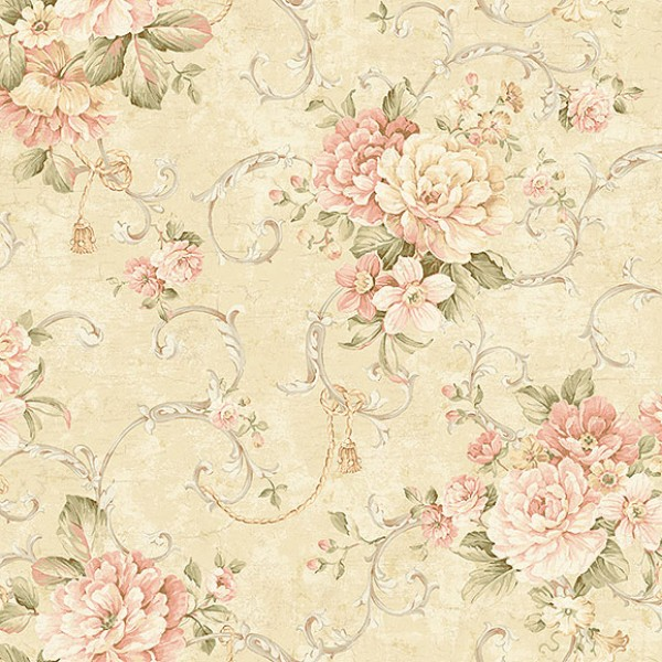 Floral wallpaper Parsippany-100624